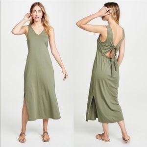 Joie Cotton Tie Back Midi Dress